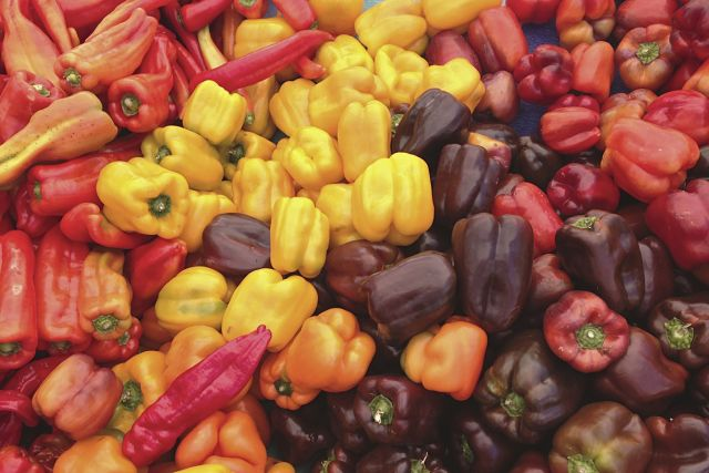 Piles of Sweet Peppers